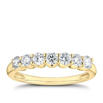 9ct Yellow Gold 1/2ct Diamond Eternity Ring - Product number 9787755