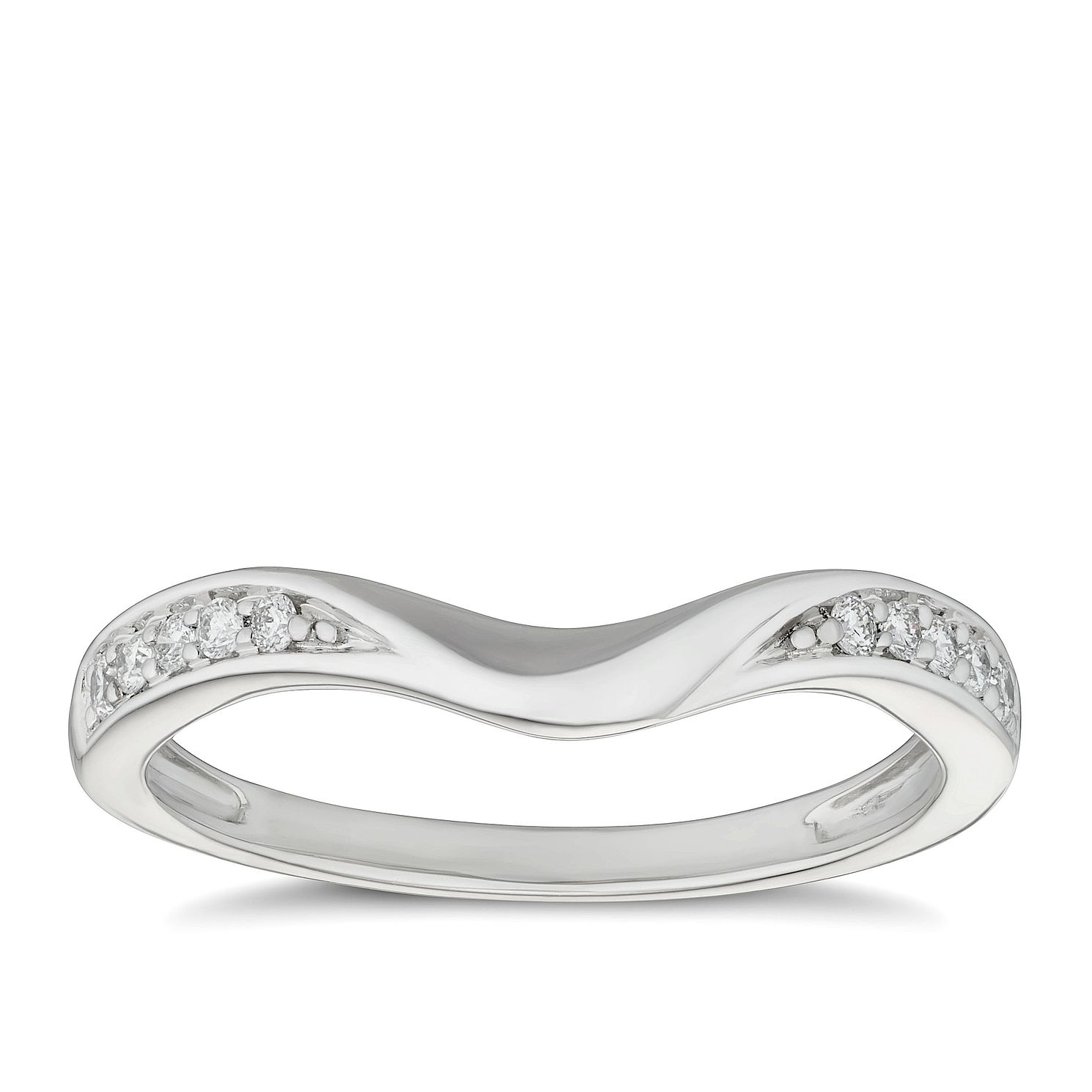 Platinum 1ct Diamond Set Shaped Wedding Ring - Product number 9787771