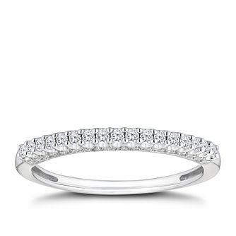 9ct White Gold 1/5ct Round Cut Diamond Eternity Ring - Product number 9788115