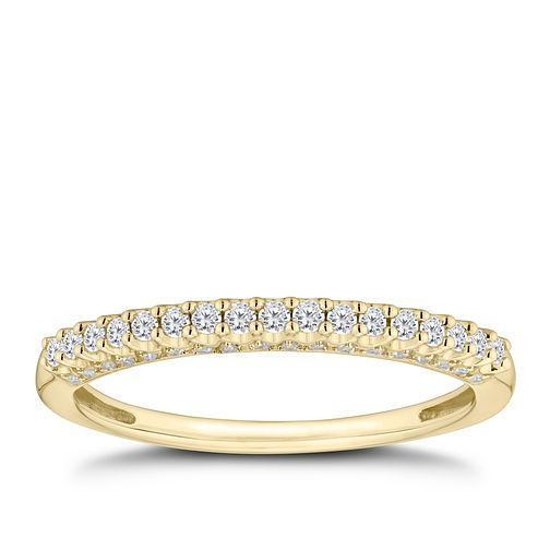 9ct Yellow Gold 1/5ct Round Cut Diamond Eternity Ring - Product number 9788247