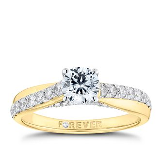 The Forever Diamond 18ct Yellow Gold 1ct Total Ring - Product number 9789278