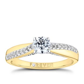 The Forever Diamond 18ct Yellow Gold 0.50ct Total Ring - Product number 9789413