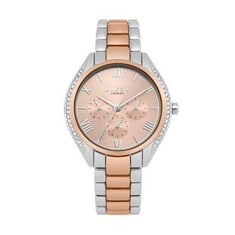 Lipsy Ladies' Rose Gold & Silver Tone Crystal Bracelet Watch - Product number 9789669