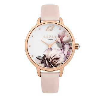 Lipsy Pink PU Strap Watch - Product number 9789731