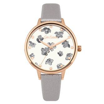 Cath Kidston Grove Ditsy Ladies' Grey Leather Strap Watch - Product number 9789901