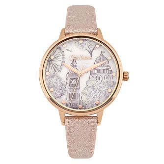 Cath Kidston Rose Gold Metallic Strap Printed Dial Watch - Product number 9789928