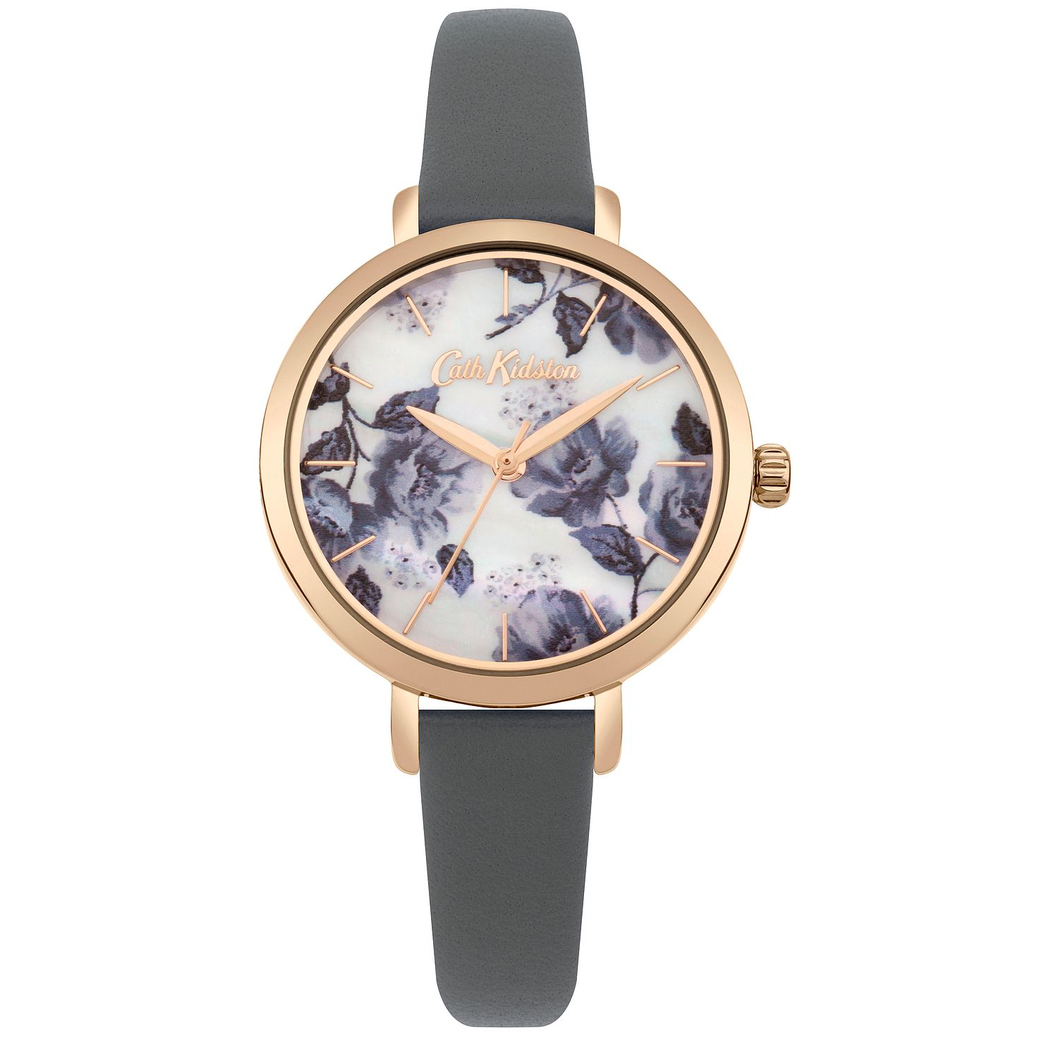 Cath Kidston Grey Strap Rose Gold Case Watch - Product number 9789979