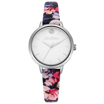Cath Kidston Navy Floral Printed Strap with White Dial - Product number 9789995