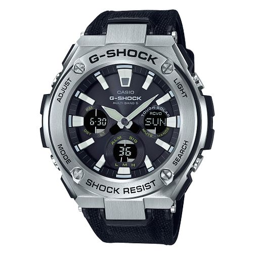 Casio G-Shock G-Steel Solar Powered Black Strap Watch - Product number 9790306