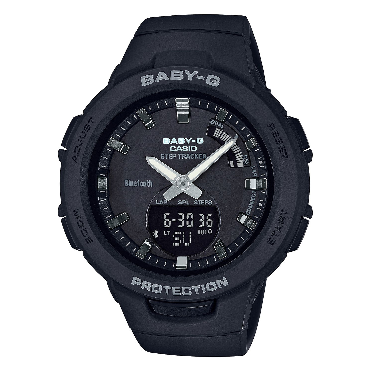 Casio Baby-G Steptracker Black Resin Strap Smartwatch - Product number 9790489