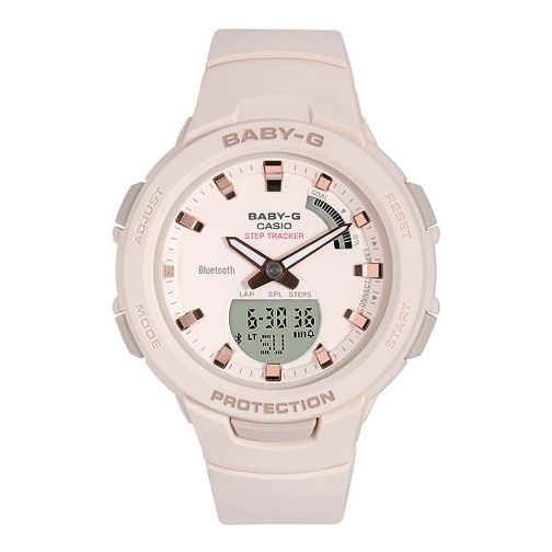 Casio Baby-G Ladies' Steptracker Pink Resin Strap Smartwatch - Product number 9790500