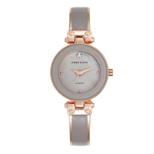 Anne Klein Ladies' Taupe And Rose Gold Tone Bangle Watch - Product number 9790772