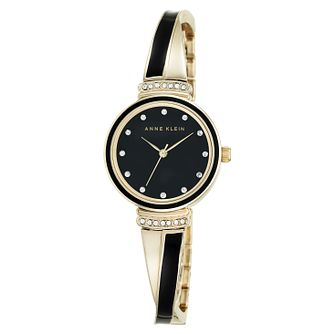 Anne Klein Gold-Tone And Black Bangle Watch - Product number 9790802