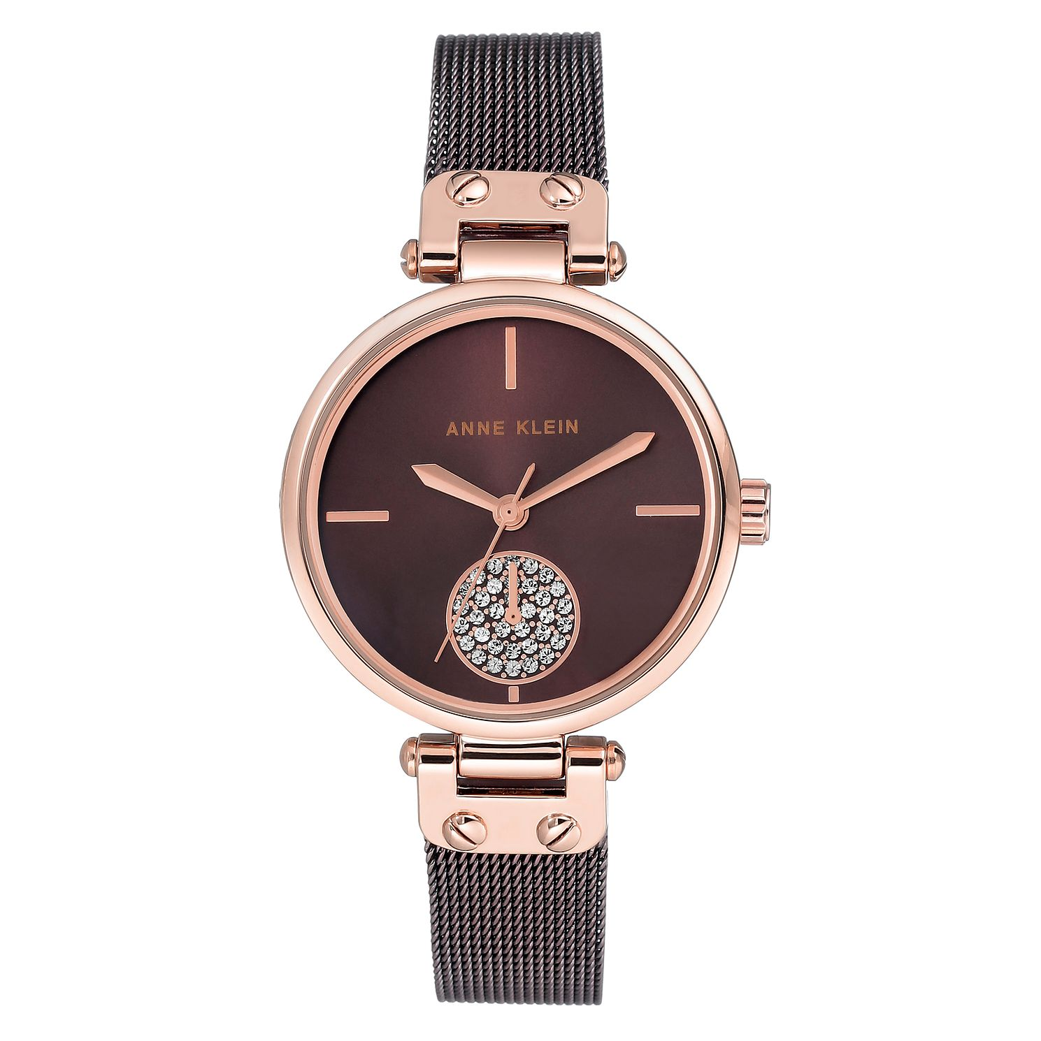 Anne Klein Ladies' Rose Gold Case and Mesh Bracelet Watch - Product number 9790845