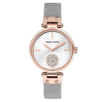 Anne Klein Silver Stainless Steel Mesh Bracelet Watch - Product number 9790861
