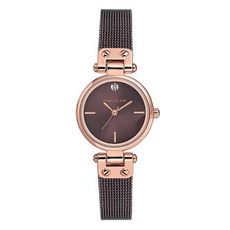 Anne Klein Ladies' Rose Gold Case And Mesh Bracelet Watch - Product number 9790888