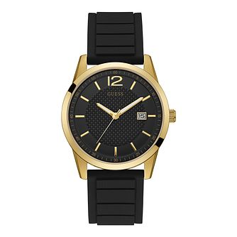 Guess Ladies' Black Dial Black Silicone Strap Watch - Product number 9790934