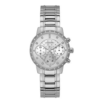 Guess Ladies' Silver Tone Stainless Steel Bracelet Watch - Product number 9790950