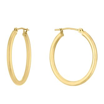 9ct Yellow Gold Creole Hoop Earrings - Product number 9791000