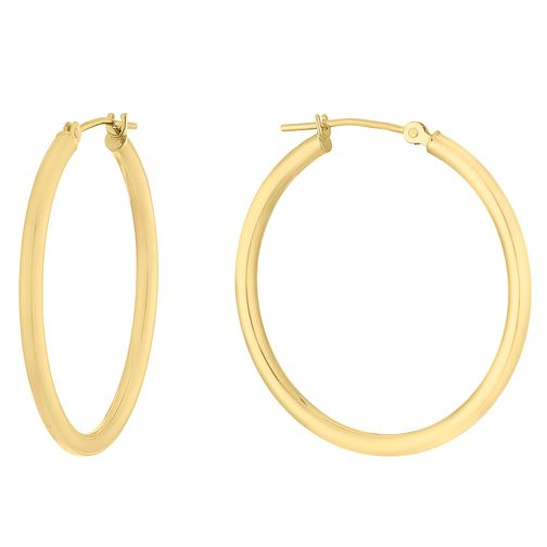 9ct Yellow Gold Creoles Hoop Earrings - Product number 9791019