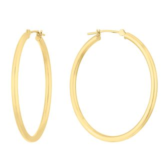9ct Yellow Gold 30mm Hoop Earrings - Product number 9791027