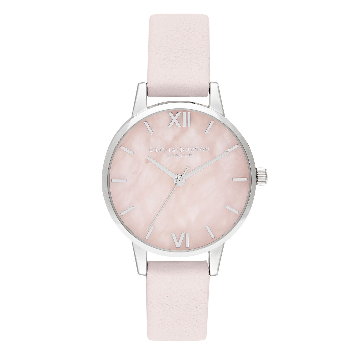 Olivia Burton Semi Precious Blush Pink Leather Strap Watch - Product number 9791221