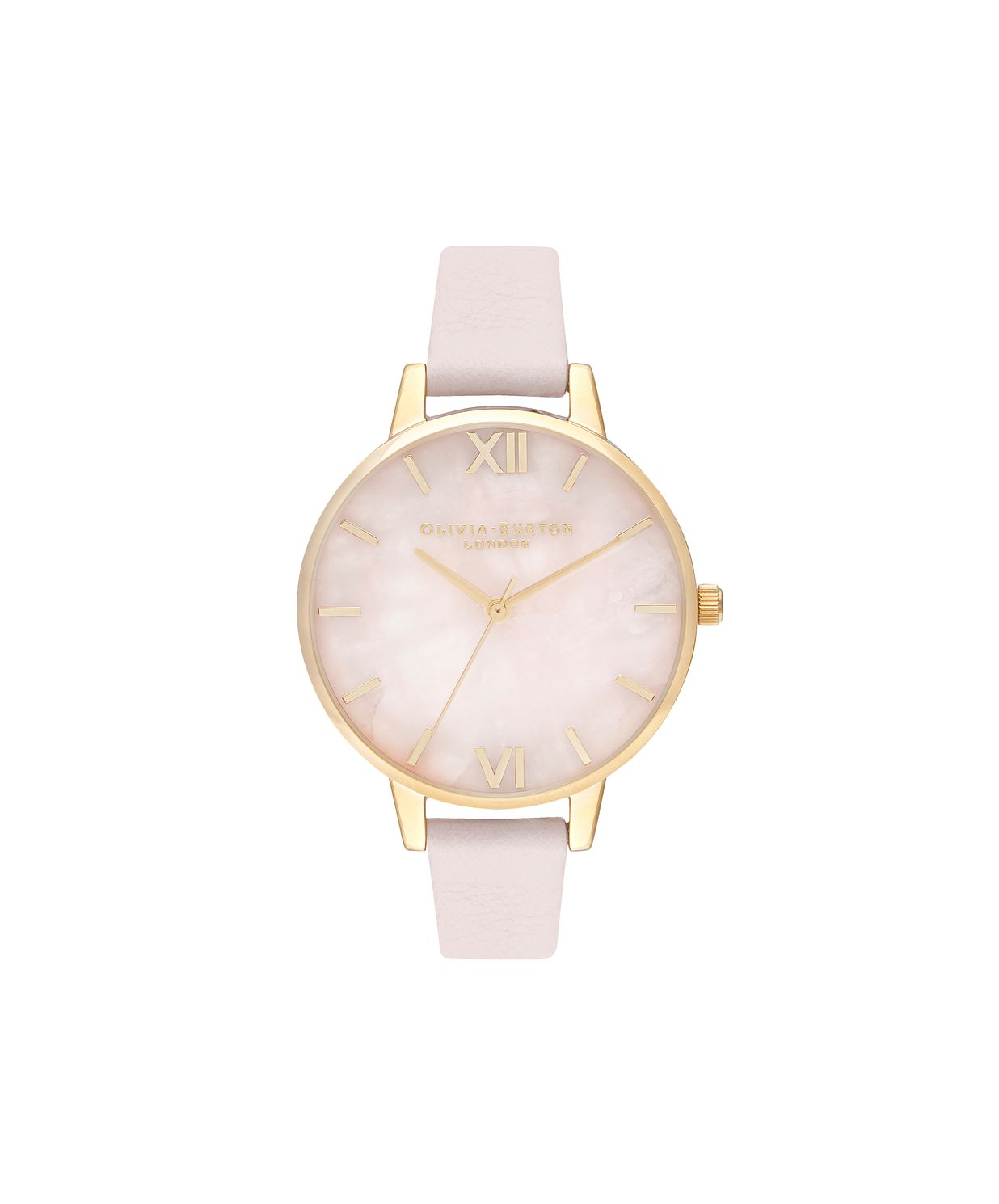 Olivia Burton Semi Precious Blush Pink Leather Strap Watch - Product number 9791264