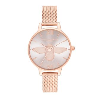 Olivia Burton Ladies' 3D Bee Rose Gold Tone Bracelet Watch - Product number 9791299