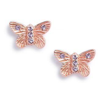 Olivia Burton Bejewelled Butterfly Tanzanite Stud Earrings - Product number 9791310