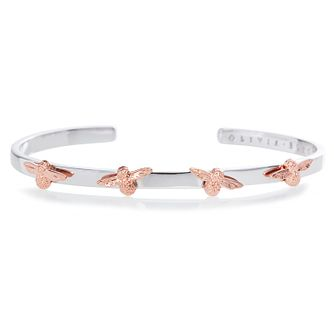 Olivia Burton 3D Bee Two-Tone Bangle - Product number 9791345