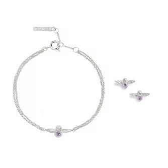 Olivia Burton Bejewelled Bee Silver & Amethyst Gift Set - Product number 9791353