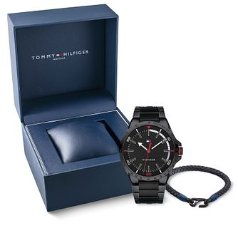 Tommy Hilfiger Men's Bracelet Watch & Leather Bracelet Set - Product number 9792570