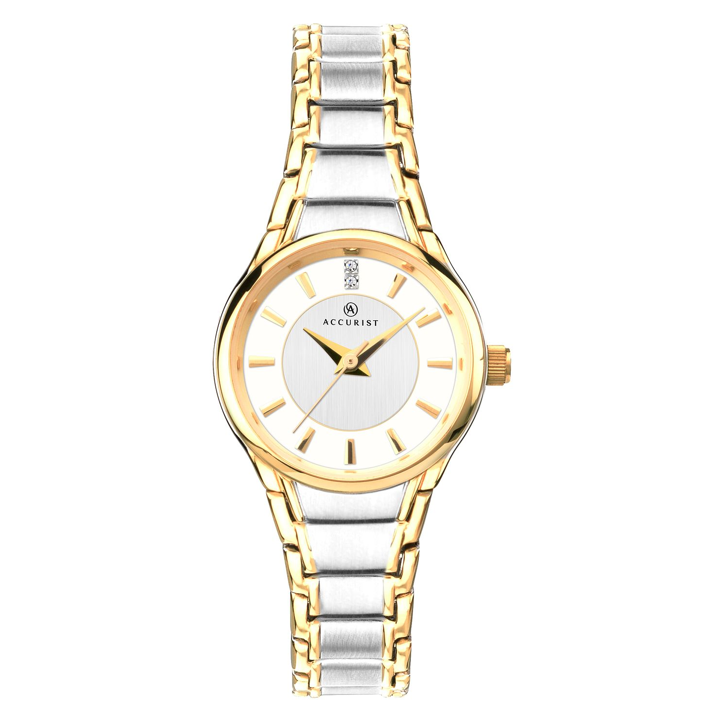 Accurist Ladies' Two-Tone Crystal Steel Bracelet Watch - Product number 9792678