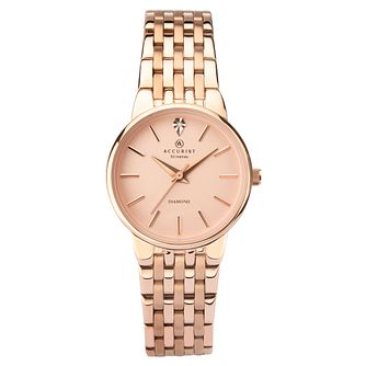 Accurist Ladies' Rose Gold Tone Steel Bracelet Watch - Product number 9792716