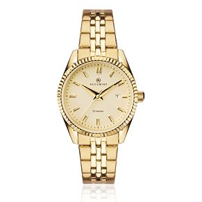 Accurist Ladies' Gold Plated Stainless Steel Bracelet Watch - Product number 9792805