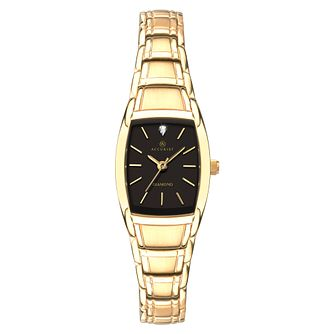 Accurist Ladies' Gold Plated Tonneau Diamond Bracelet Watch - Product number 9792813