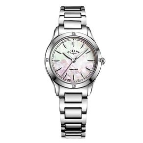 Rotary Ladies' Mother of Pearl Steel Bracelet Watch - Product number 9792902