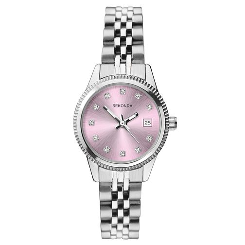 Sekonda Ladies' Crystal Stainless Steel Bracelet Watch - Product number 9794239