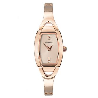 Sekonda Ladies' Rose Tone Bangle Bracelet Watch - Product number 9794271