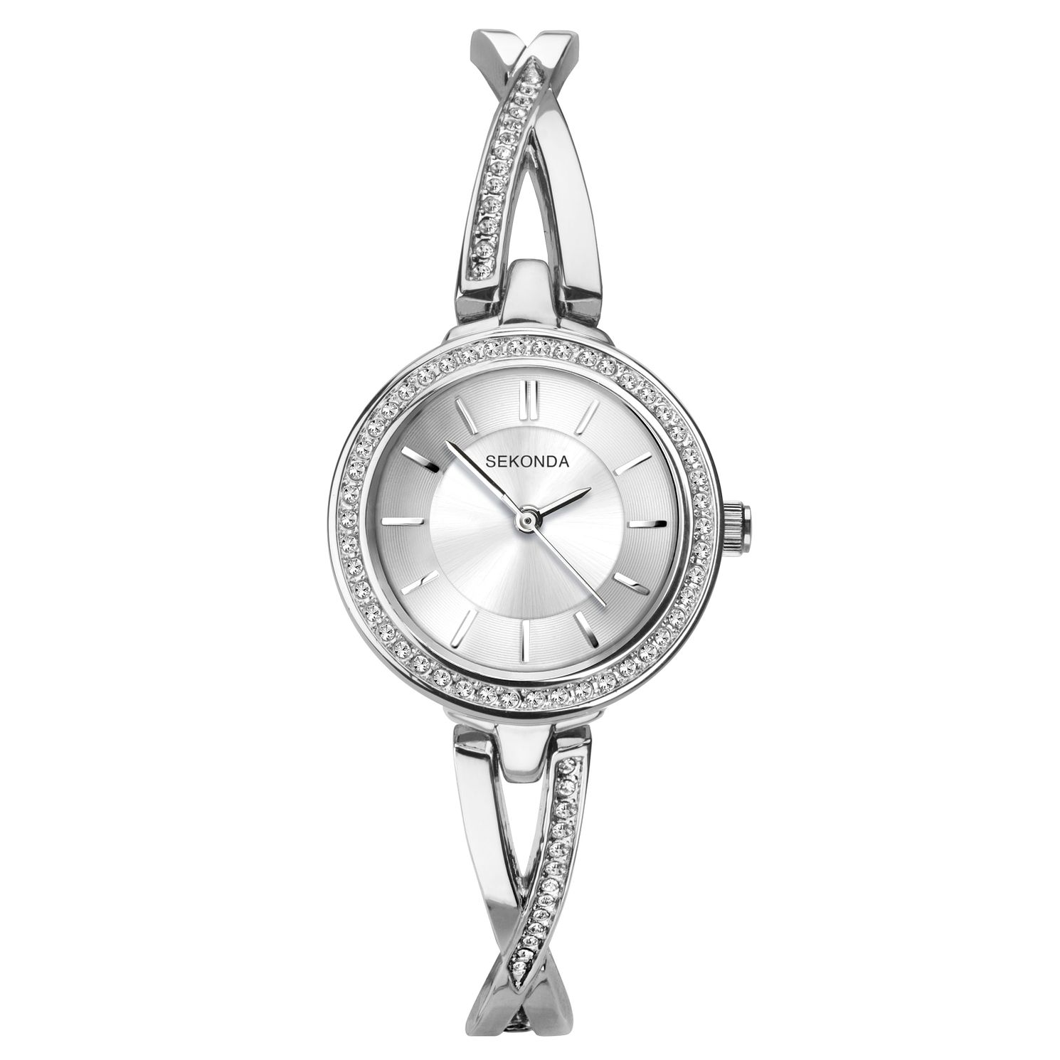 Sekonda Ladies' Silver Tone Bangle Bracelet Watch - Product number 9794298