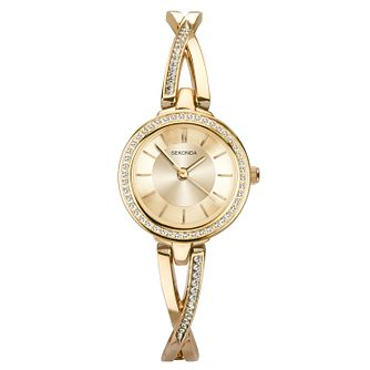 Sekonda Ladies' Gold Tone Bangle Bracelet Watch - Product number 9794301
