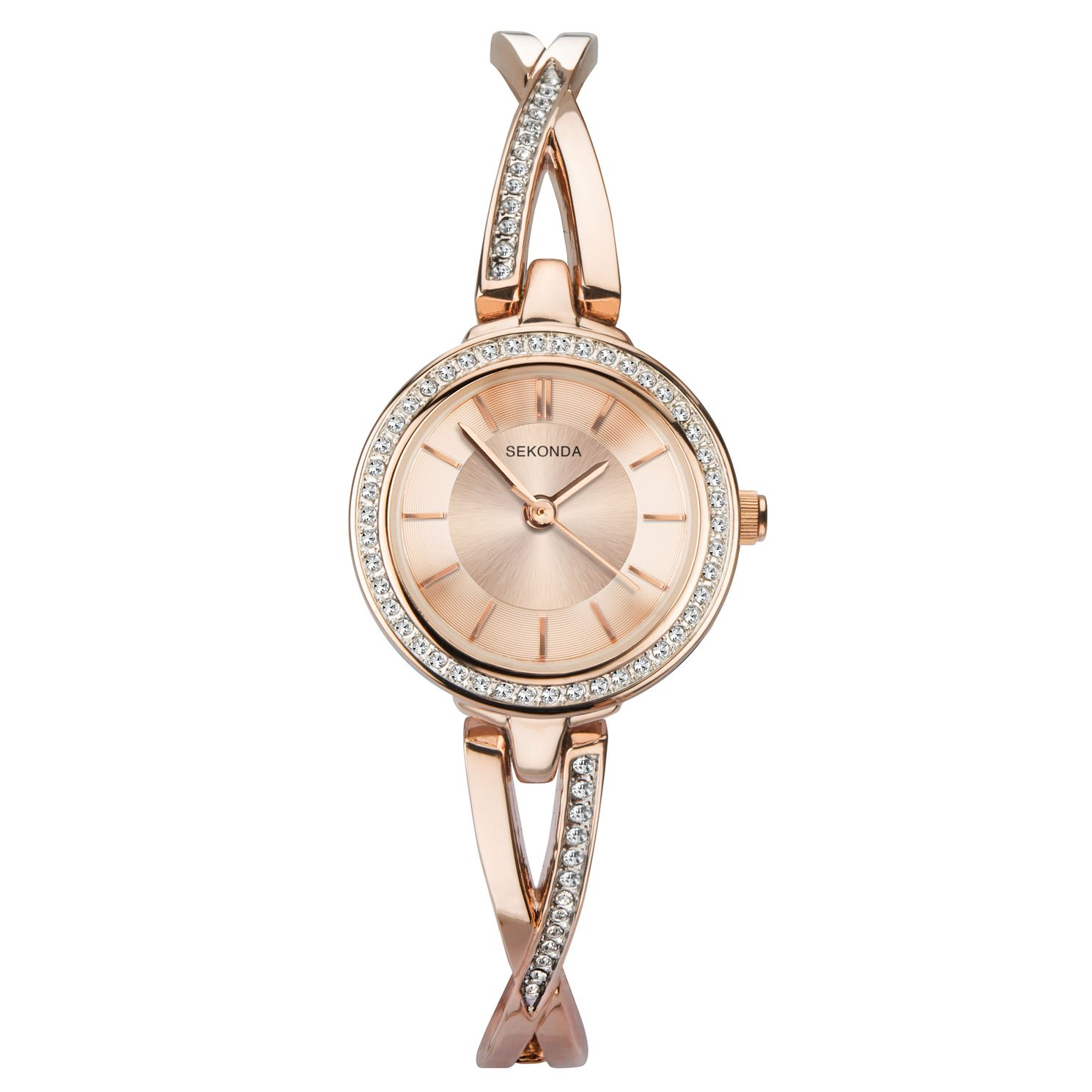 Sekonda Ladies' Rose Gold Tone Bangle Bracelet Watch - Product number 9794328