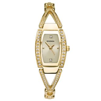 Sekonda Ladies' Crystal Gold Tone Bracelet Watch - Product number 9794336
