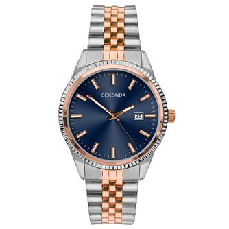 Sekonda Men's Two-Tone Stainless Steel Bracelet Watch - Product number 9794352