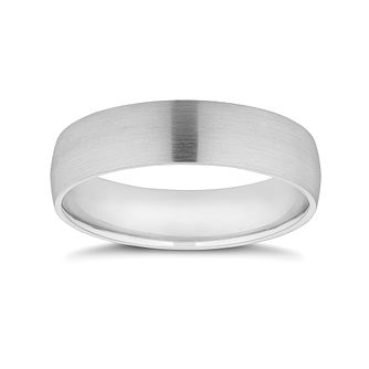 Platinum 5mm Satin Finish Wedding Band - Product number 9794867