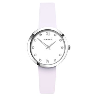Sekonda Editions Ladies' Lilac Leather Strap Watch - Product number 9795219