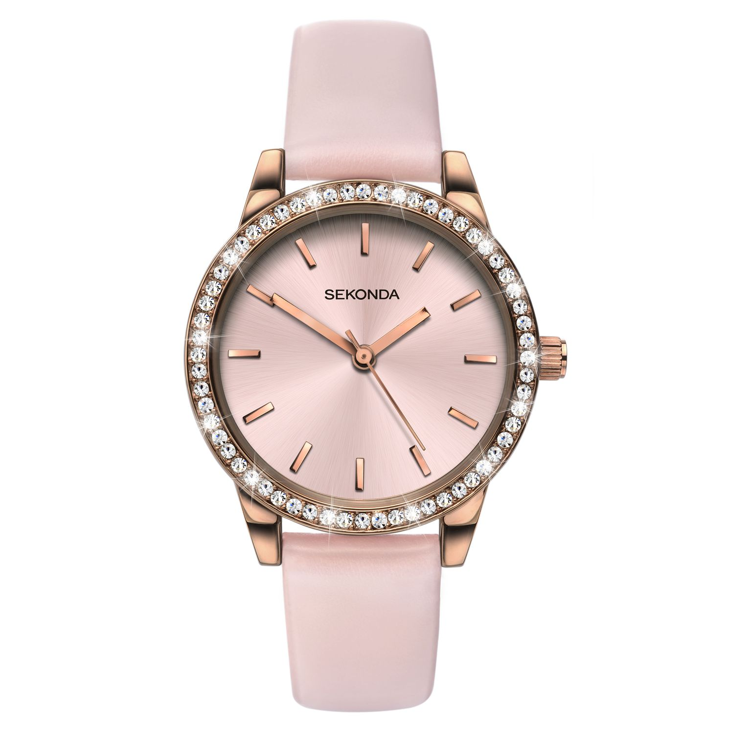 Sekonda Edition Ladies' Crystal Pink Strap Watch - Product number 9795235