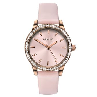 Sekonda Editions Ladies' Crystal Pink Strap Watch - Product number 9795235