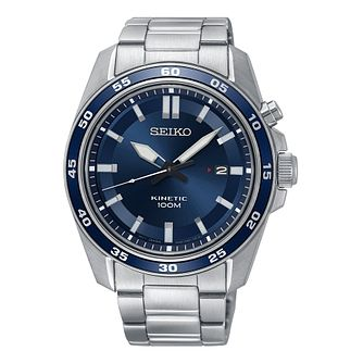 Seiko Men's Kinetic Stainless Steel Bracelet Watch - Product number 9795359