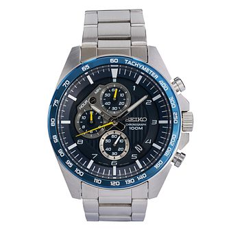 Seiko Men's Chronograph Stainless Steel Bracelet Watch - Product number 9795545